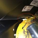 Kotflügel schwarz Anpassungsprobe Detailansicht